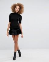 J.o.a. Ruffle Peplum Hem Skirt