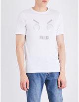 Fendi Face-embellished Cotton-jersey T-shirt