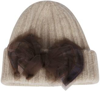 CA4LA Beige Mohair-wool Blend Hat