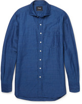 Drake's - Linen And Cotton-blend Chambray Shirt