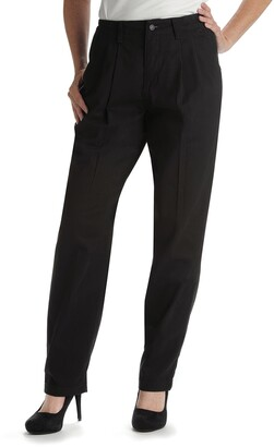 Lee Women's Petite Relaxed Fit Side Elastic Pleated Pant