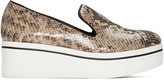 Stella McCartney Beige Snake-embossed Binx Loafers