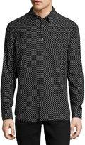 Wesc Newton Relaxed Printed Shirt, Black