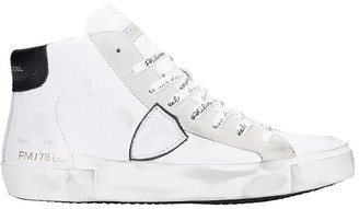 Philippe Model Prsx H Sneakers In White Leather