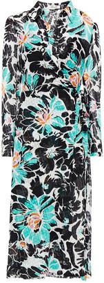 Diane von Furstenberg Fil Coupe Floral-print Crepon Midi Shirt Dress