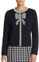 St. John Beaded Bow Cardigan