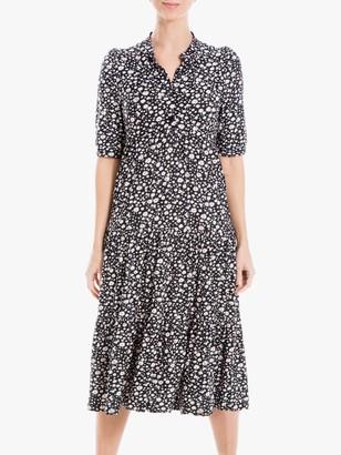 Max Studio Floral Print Jersey Maxi Dress, Black