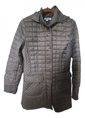 DKNY Grey Synthetic Coats
