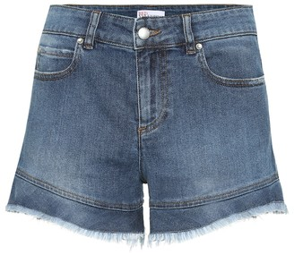 RED Valentino high-rise denim shorts