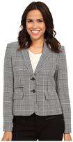 Calvin Klein Plaid Two Button Jacket