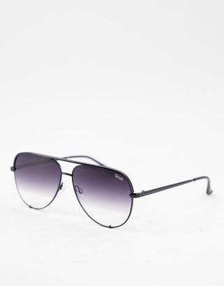 Quay High Key sunglasses in black fade