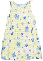 Joules Madeline Stripe & Floral Tie Sleeveless Dress, Size 3-10