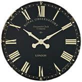 Roger Lascelles Lascelles Greenwich Clock, Dia.70cm, Black