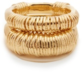 Aurelie Bidermann Alhambra set of two gold-plated rings