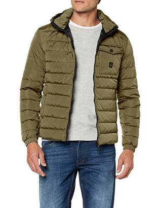 Refrigiwear Winter Down Jacket for Men with Hood Hunter-1, Waterproof and Windproof, with 180 Gram Feather Padding