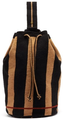 Guanabana - Tula Augustine Stripe-woven Backpack - Navy