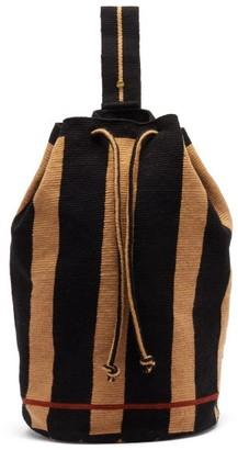 Guanabana Tula Augustine Stripe-woven Backpack - Navy