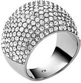 Michael Kors Pave Silver-Tone Dome Ring