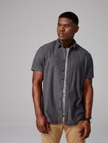 Frank + Oak Cotton-Blend Knit Button-Down Shirt in Charcoal