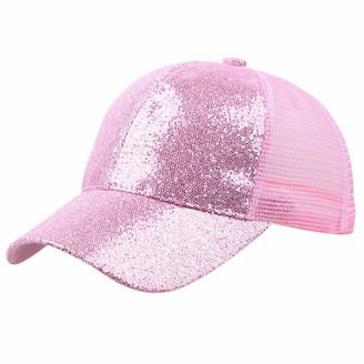 Takkar Chapeau Takkar Unisex Glitter Snapback Baseball Cap - Pink - Large