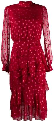 Saloni polka-dot dress