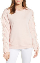 Halogen Ruffle Trim Sweatshirt (Regular & Petite)