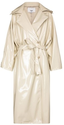Frankie Shop Patent trench coat
