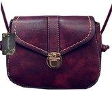 Donalworld Womenmall Retro Cover Bag Motie Lock PU Leatherhoulder Bag DWBAG0256