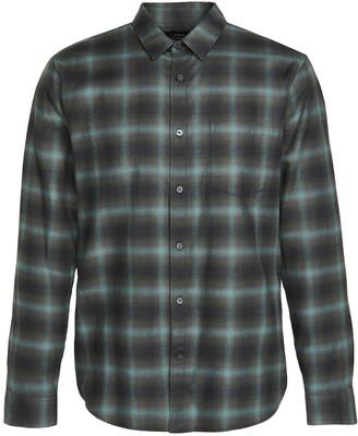 Vince Multi Shadow Plaid Long Sleeve Shirt