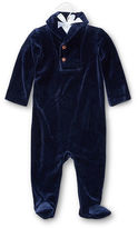 Ralph Lauren Velour Footed Coverall