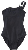 Sara Blakely ASSETS® by Women's One Shoulder 1-Piece Swimsuit -Black