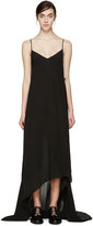 Yang Li Black Asymmetric Slip Dress
