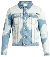 Ami Bleached-effect Denim Jacket