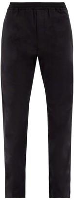 The Row Josh Cotton-poplin Track Pants - Black