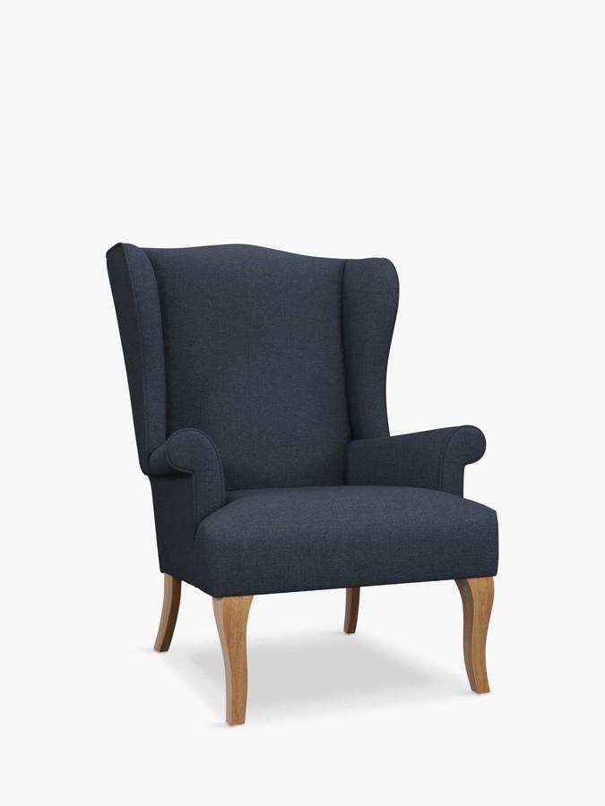 John Lewis & Partners Shaftsbury Armchair, Light Leg, Farland Navy