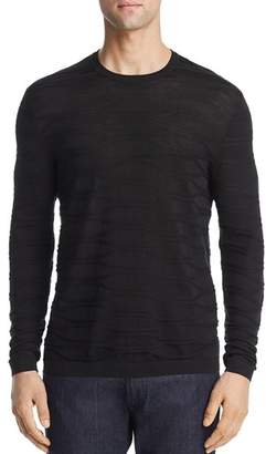 Giorgio Armani Textured Knit Silk & Cotton Slim Fit Sweater
