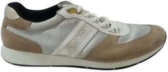 Prada Silver Cloth Trainers