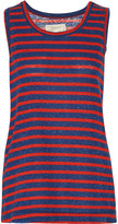Current/Elliott The Muscle striped cotton-blend tank