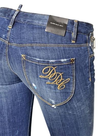 DSquared Super Slim Stretch Cotton Denim Jeans
