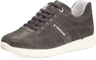 a. testoni a.testoni Men's Leather Trainer Sneakers