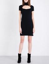 Helmut Lang High neck cutout wool-blend mini dress