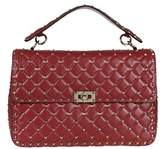 Valentino Women's Red Leather Shoulder Bag.