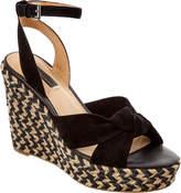 Frye Women's Charlotte Twist Suede Wedge Sandal