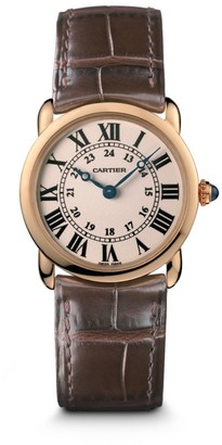 Cartier Ronde Louis 18K Rose Gold & Alligator Strap Watch