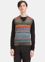 Missoni Men's Zigzag Knit Vest in Multicolour