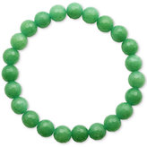 Macy's Faceted Bead Green Stone Stretch Bracelet