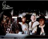 "Star Wars Peter Mayhew Signed ""Chewbacca"" with Luke Skywalker, Obi Wan Kenobee and Han Solo in Millenium Falcon 8"" x 10"" Photo"