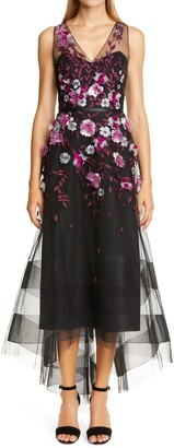 Marchesa Embellished Tulle High/Low Gown