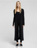 Calvin Klein Collection Cashmere Ribbed Long Cardigan