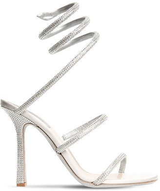 Rene Caovilla 105mm Embellished Satin Sandals
